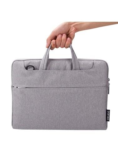 Mcstorey Pofoko MacBook Air Pro Retina Laptop Notebook Çanta Kılıf Koruyuma 13.3 inç Su Geçirmez Handbag Gri